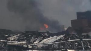 Raw video: Aftermath of massive explosion in Chinese city of Tianjin
