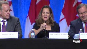 Freeland praises joint firefighting efforts as NAFTA talks begin