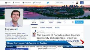 Edmonton Mayor Don Iveson recognized for Twitter use