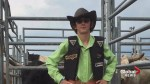 Steer rider with autism fulfills dream at Calgary Stampede