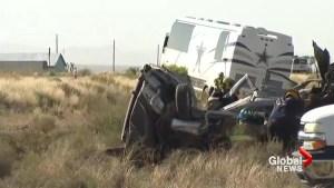 4 dead as van collides with Dallas Cowboys team bus in Arizona
