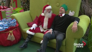 Jordan Witzel visits with Santa