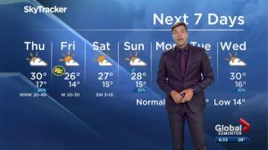 Edmonton weather forecast: July 26