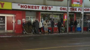 Shoppers line up early for grand opening of Bad Boy at Honest Ed's