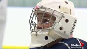 Saskatoon Blades goalie Logan Flodell CHL goaltender of the week