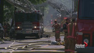 Firefighters battle Villeray fire