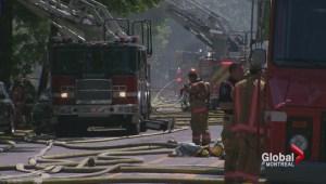 Firefighters battle Villeray fire