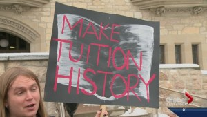 University of Saskatchewan students rally against tuition
