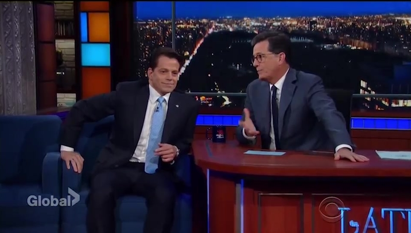 Scaramucci Calls Bannon A White House Leaker On Colbert's 'Late Show'