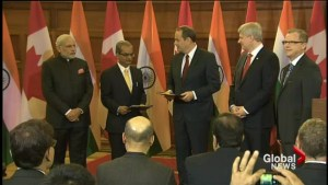 Canada inks major uranium deal with India