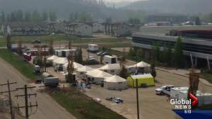 Fort McMurray wildfire: temporary medical centre set up