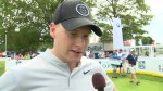 Toronto Maple Leaf Connor Brown practices hockey skills on converted hole at RBC Canadian Open
