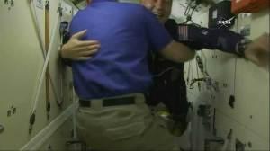 Soyuz TMA-17M crew arrives at International Space Station