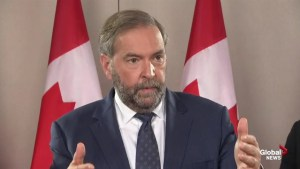 Mulcair: 'It's very personal when Trudeau says he can work with NDP, but not me'