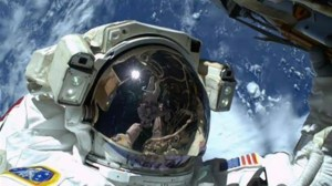 "Astronaut takes ""spacewalk selfie"" during spacewalk to repair ISS"