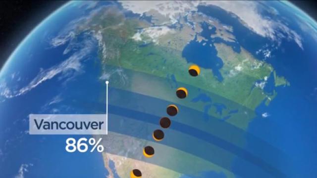 Solar eclipse occurs in North America