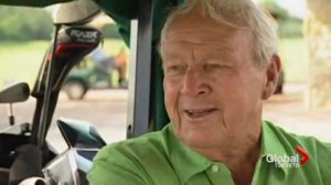 Susan Hay remembers Arnold Palmer fondly from 2011 golf cart interview