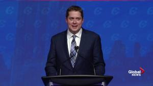 Andrew Scheer says he'll 'get a grip on out of control spending'