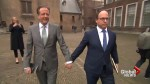 Dutch lawmakers hold hands as they condemn homophobic violence