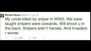 New film 'American Sniper' sparks Twitter war