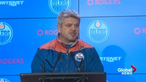 Edmonton Oilers head coach discusses starting goalie for Friday's game against Predators