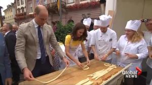 Prince William and Princess Kate make pretzels in German town