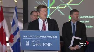 Scarborough subway plan will only include one, says Mayor John Tory