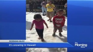 It's snowing…in Hawaii?!
