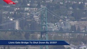 Lions Gate Bridge being closed to traffic?