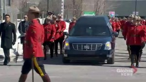 RCMP officer killed in collision honoured with regimental funeral