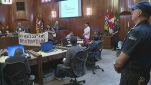Protestors occupy Vancouver City Hall