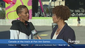 Canadian hurdler Phylicia George
