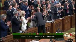 Justin Trudeau pays tribute to Rona Ambrose during Question Period