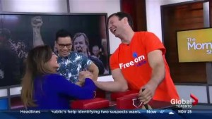 The Morning Show arm wrestles with a heavyweight champ