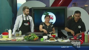 In the Global Edmonton kitchen with Calle Mexico Food Truck