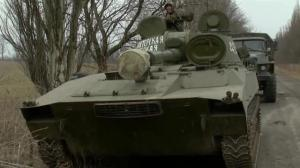 Raw video: Russian rebels seen withdrawing from Donetsk