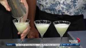 Juniper Café and Bistro makes Canada Day cocktails in the Global Edmonton kitchen