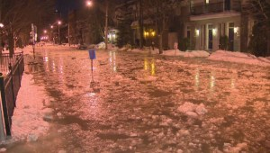 Raw video: St. Laurent water main break