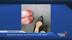 JOEY restaurant server forced to wear heels despite 'bleeding' feet
