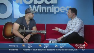 Canadian country musician Tebey drops by, plays at Global Winnipeg