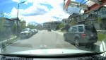 Dash cam video catches close call with child