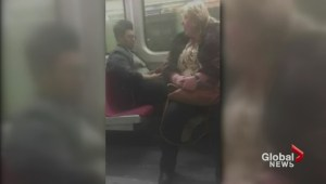 Woman sits on another TTC passenger's feet to teach a lesson