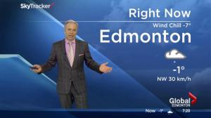 Snow and wind hits Edmonton region