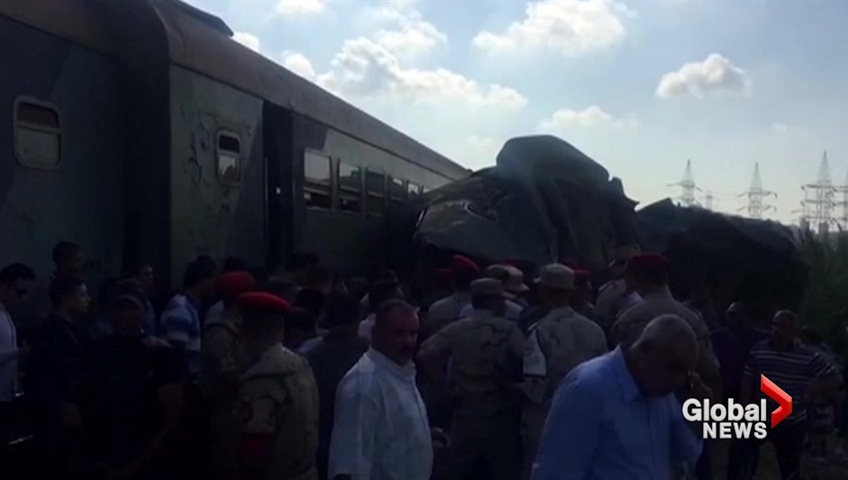 Train collision in northern Egypt kills at least 31