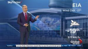 Edmonton early morning weather forecast: Thursday, February 9, 2017