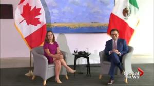 Chrystia Freeland holds bilateral meeting with Mexican counterpart ahead of NAFTA talks
