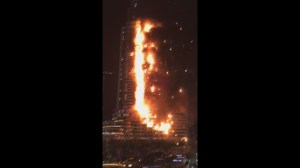 Dramatic videos show the extent of The Address fire in Dubai