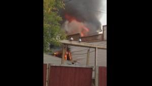 Video captures fire tearing through Winnipeg home