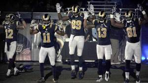 Rams players show support for Ferguson protesters during NFL game