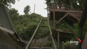 Gibsons funicular crash injures three